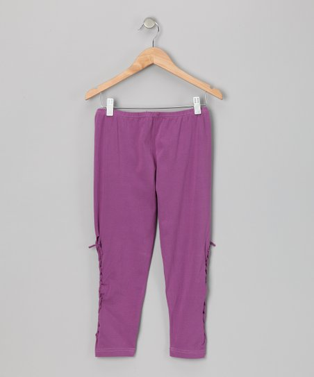 Lavender Braid Leggings - Girls