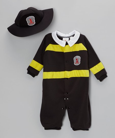 Black Little Firefighter Dress-Up Set - Infant