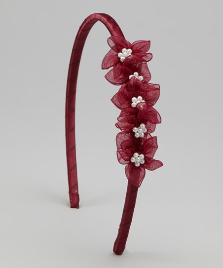 Burgundy Blossom Headband