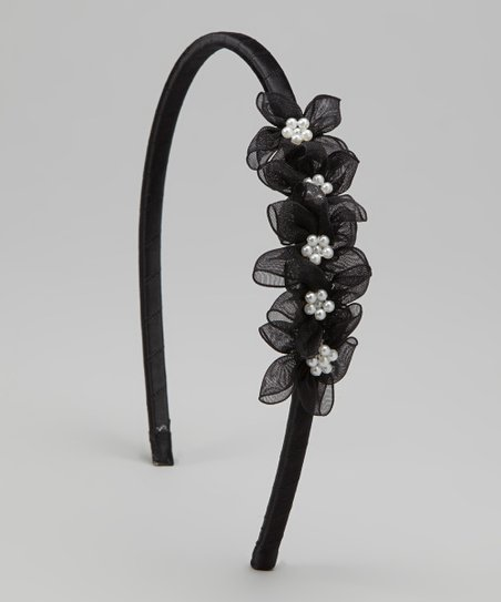 Black Blossom Headband