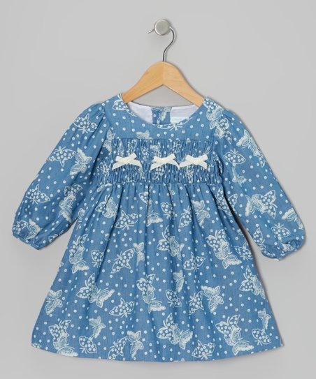 Ivory Butterfly Bow Dress – Infant & Toddler