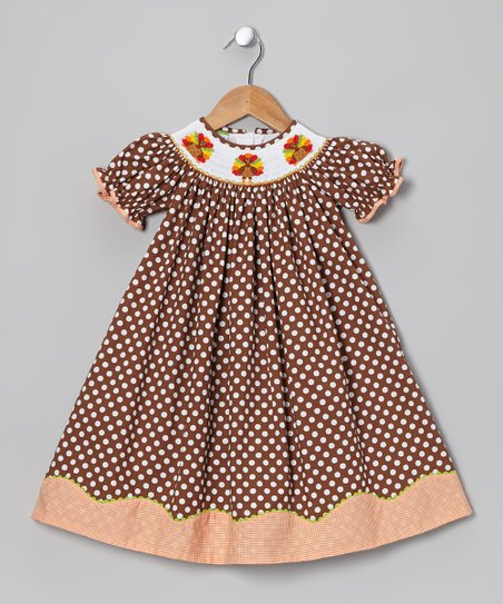 Brown Turkey Bishop Dress - Infant, Toddler & Girls