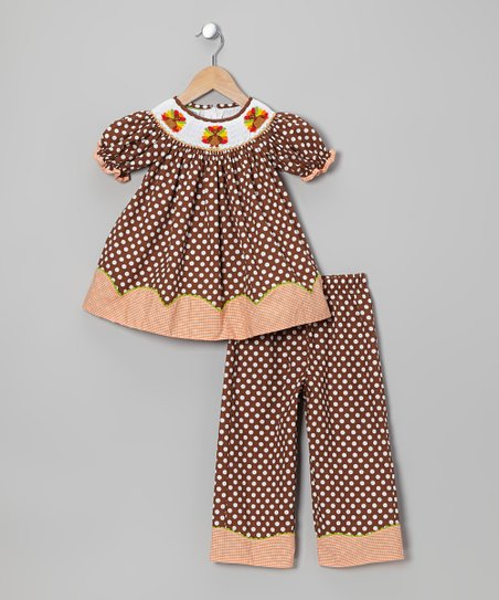 Brown Turkey Bishop Tunic & Pants - Toddler & Girls