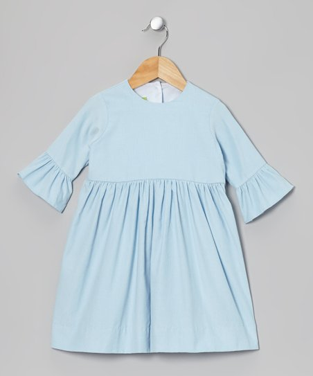 Light Blue Corduroy Dress - Infant, Toddler & Girls