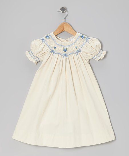 Ivory Corduroy Bishop Dress - Toddler & Girls