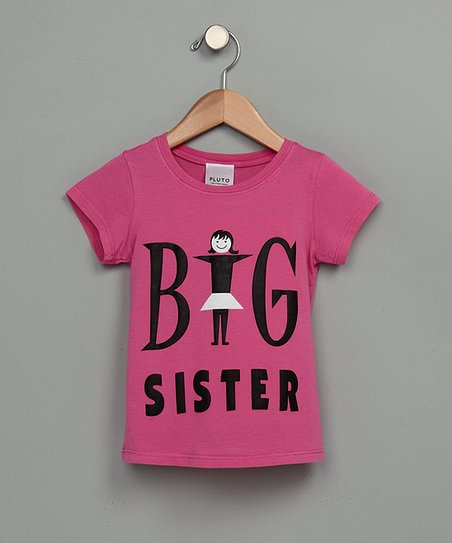 Rose Pink 'Big Sister' Tee - Toddler & Girls