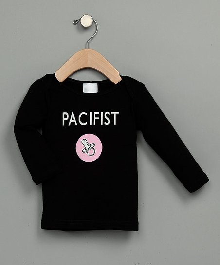 Pink 'Pacifist' Long-Sleeve Tee - Infant