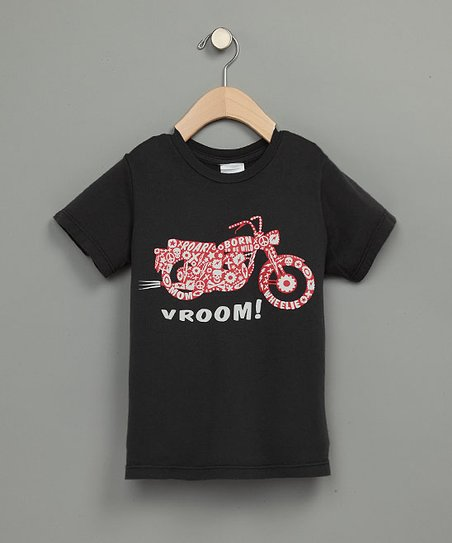 Gray 'Vroom!' Tee - Boys