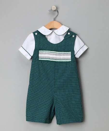 Green Gingham Shirt & John Johns - Infant & Toddler
