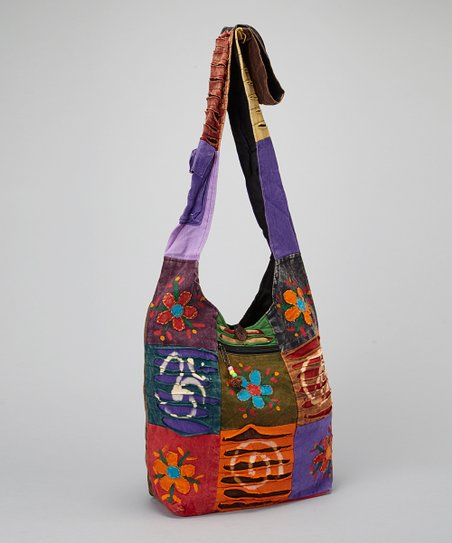 Peace Flower Patchwork Tote