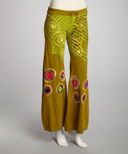 Green Circle Patch Lounge Pants