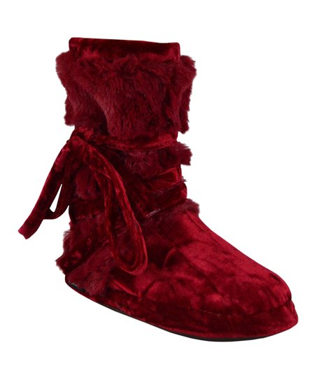 Candy Apple Slipper Boot - Women