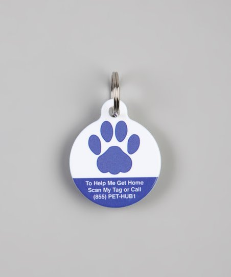Blue Paw QR Code Pet Tag