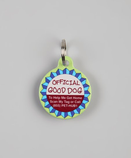PetHub Green 'Good Dog' QR Code Pet Tag