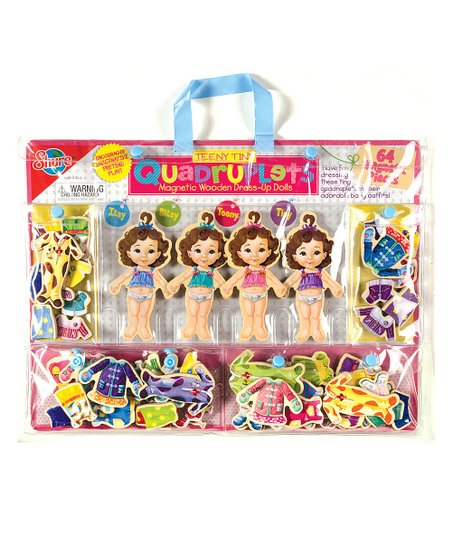 Teeny Tiny Quadruplets Magnetic Dress-Up Set