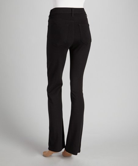 Black Ponte Straight Leg Pants