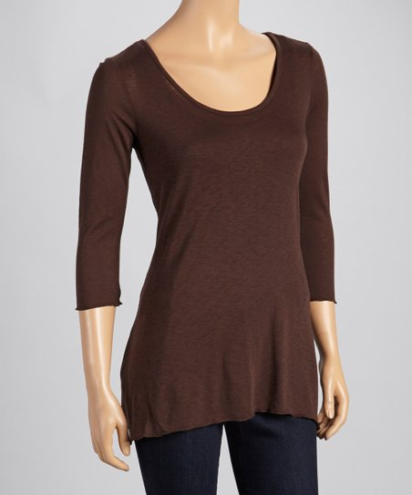 Hickory Three-Quarter Sleeve Top