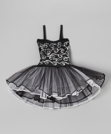 Black Stella Too Leotard Dress - Toddler & Girls
