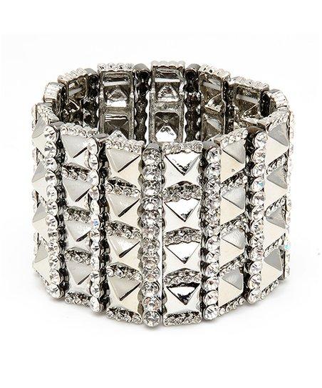 Silver Rhonda Stretch Bracelet