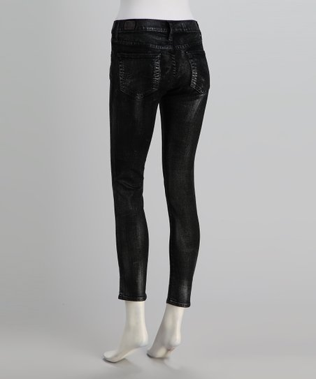 Red Engine Glitter Pearl Scorcher Skinny Jeans