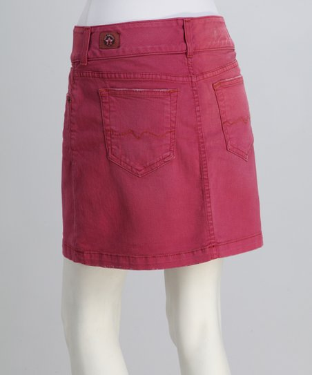 Red Engine Petal Caprice A-Line Denim Skirt