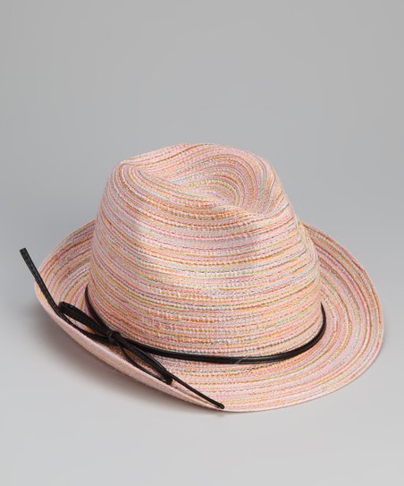 Light Pink Bow Cord Fedora