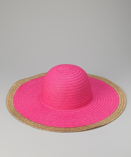 Fuchsia Metallic Trim Sun Hat