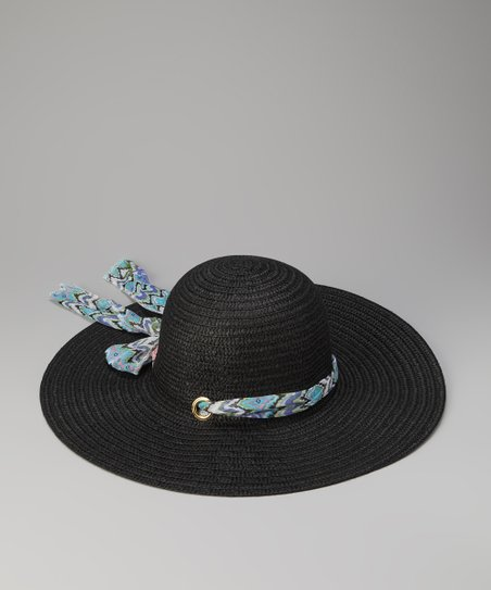 Black Sash Sun Hat