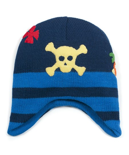 Navy & Yellow Pirate Beanie