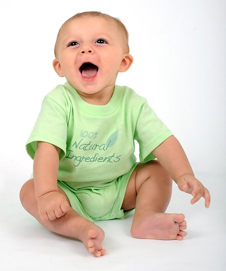 Mint Green '100% Natural Ingredients' Romper - Infant