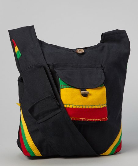 Black Rasta Crossbody Bag