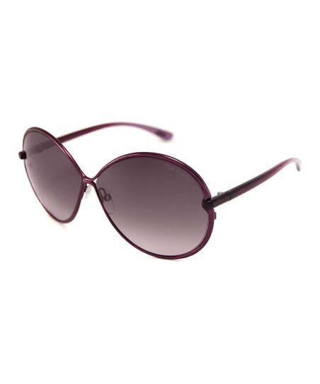 Burgundy Stefania Sunglasses