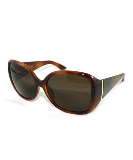 Light Havana Bold Butterfly Sunglasses
