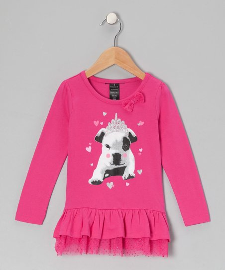Hot Pink Puppy Tunic - Toddler