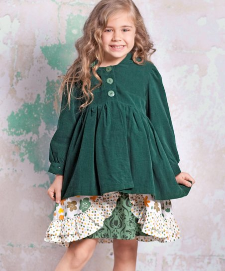 Green Monaco Corduroy Jacket - Infant, Toddler & Girls