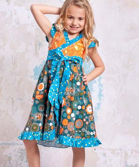 Teal & Orange Agra Misha Dress - Infant, Toddler & Girls