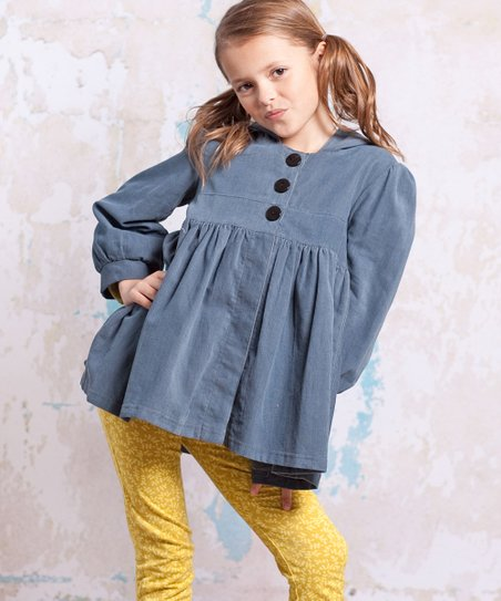 Slate Blue Bees Corduroy Jacket - Infant, Toddler & Girls