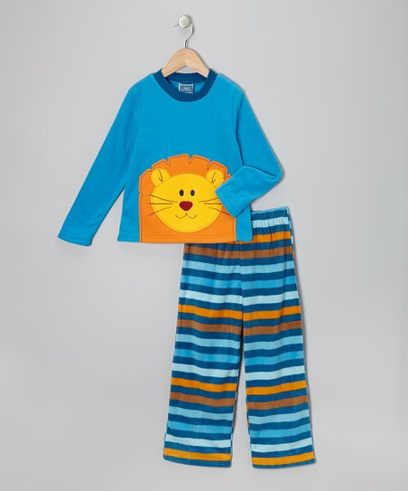 Blue Lion Fleece Pajama Set - Toddler & Boys