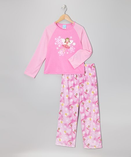 Pink Fairy Pajama Set - Girls