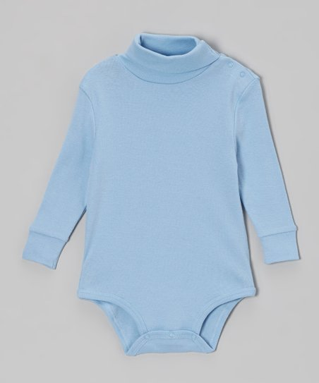 Blue Turtleneck Bodysuit - Infant