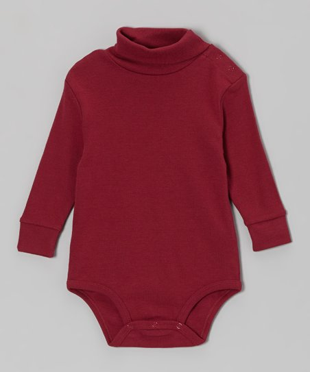 Maroon Turtleneck Bodysuit - Infant