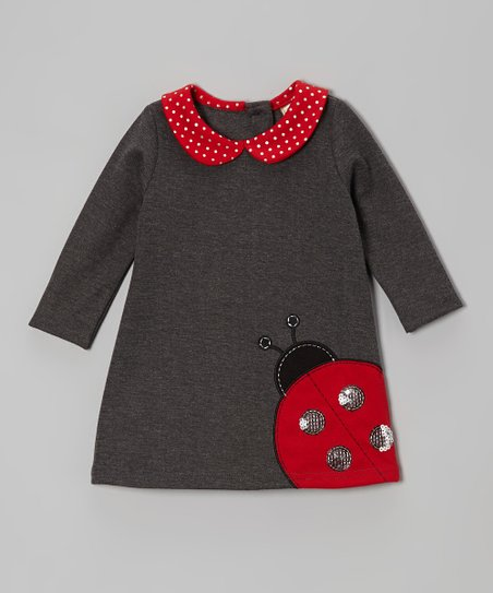 Charcoal Ladybug Bodysuit - Infant, Toddler & Girls