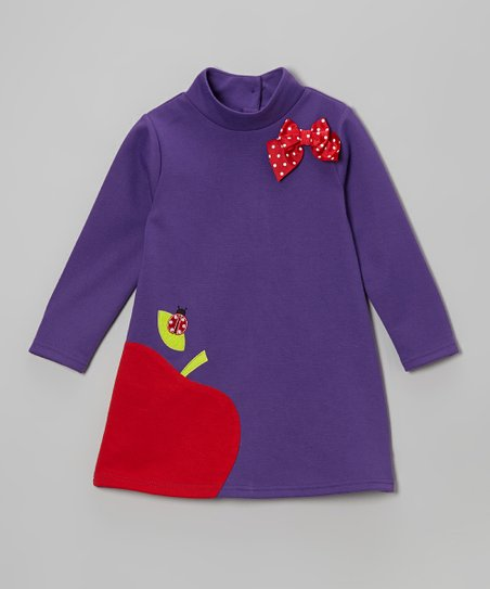 Purple Apple Swing Dress - Infant, Toddler & Girls