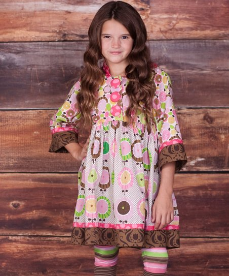 Brown Montrose Hannah Dress & Leggings - Infant, Toddler & Girls
