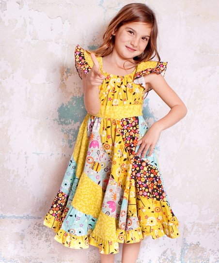 Yellow Bees Flo Dress - Infant, Toddler & Girls
