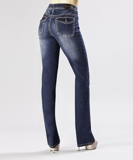 Dark Wash Tulsa Straight-Leg Jeans