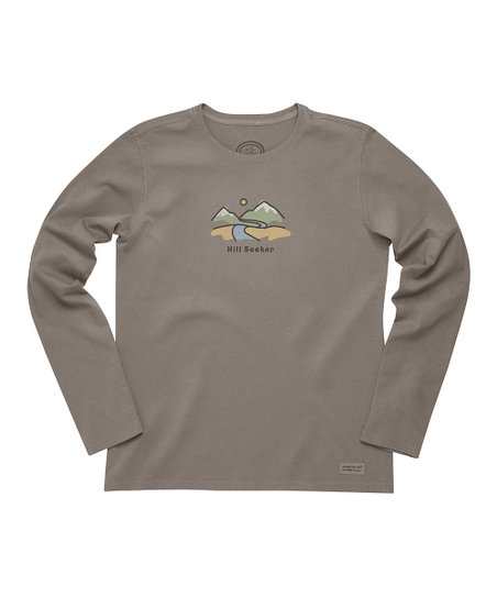 Dark Brown 'Hill Seeker' Crusher Long-Sleeve Tee - Women