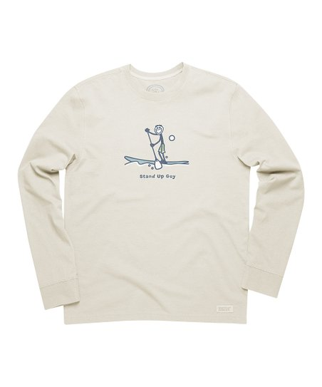 Putty White 'Stand Up Guy' Crusher Long-Sleeve Tee - Men
