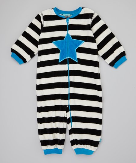Methyl Blue Stripe Balou Playsuit - Infant