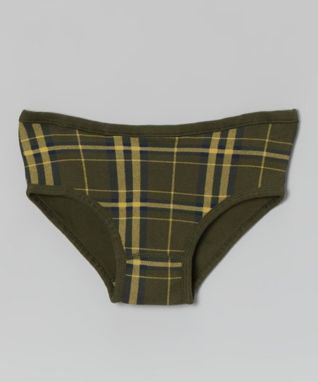 Dill Tartan Organic Underwear - Toddler & Girls